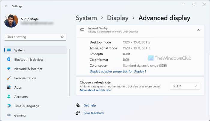 How to Enable or Disable Dynamic Refresh Rate (DRR) in Windows 11