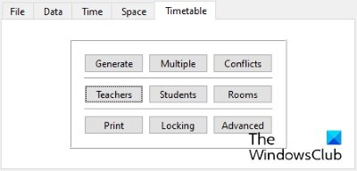 generate timetable using FET