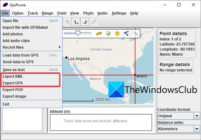 How to Convert CSV to GPX or KML in Windows 11/10