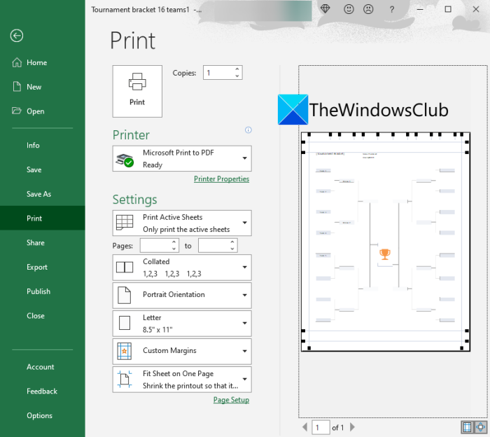 How to create a Tournament Bracket in Windows