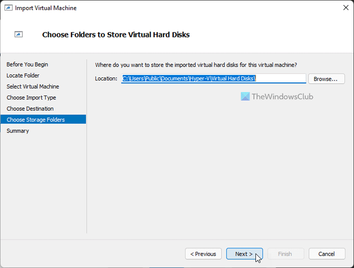 How to import virtual machines in Hyper-V