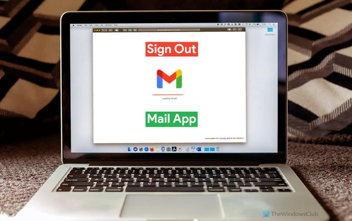 How to log out of one email account in Windows 11/10 Mail app