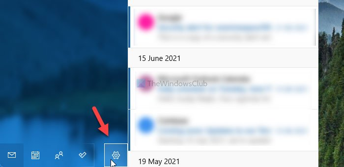 Remove account to log out of one email account in Windows 11/10 Mail app
