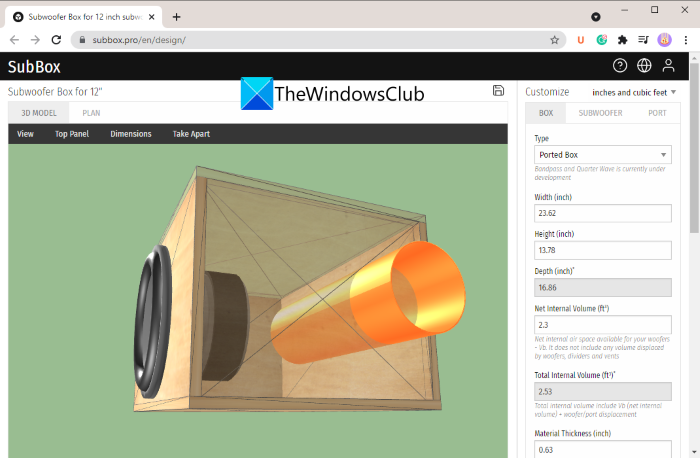 Design Speaker Enclosures using these free online tools and software