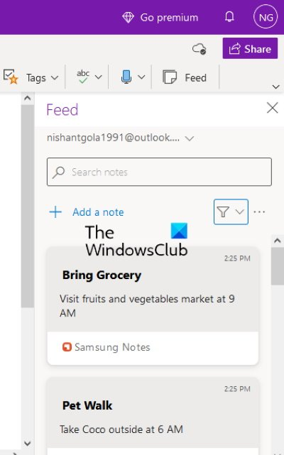 view Samsung Notes in Microsoft OneNote