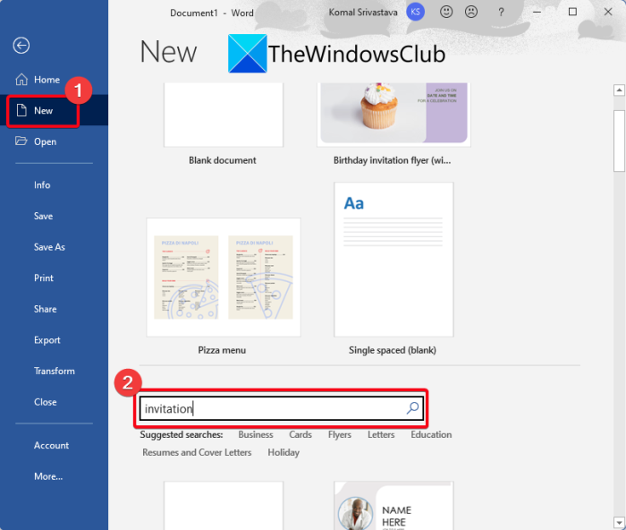 How to make an Invitation Card in Windows 11/10