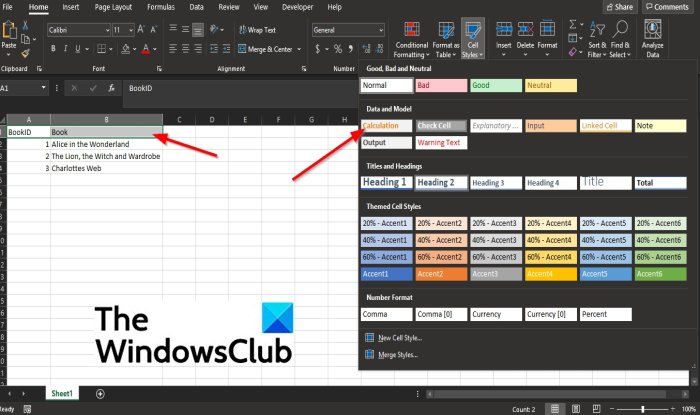 How to create and Cell Style feature in Excel