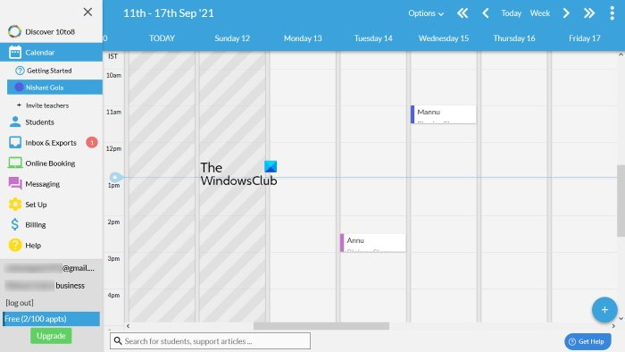 10to8 online appointment planner tool
