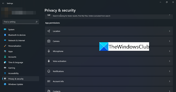 App Permissions in Privacy and Security