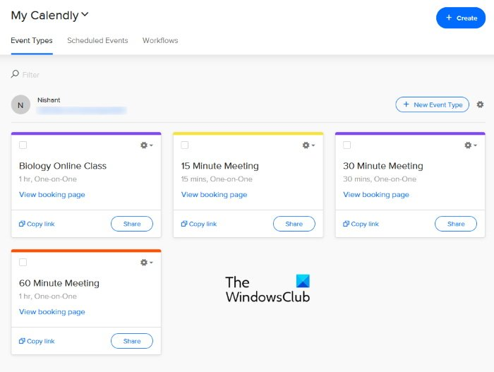 Calendly online appointment scheduler