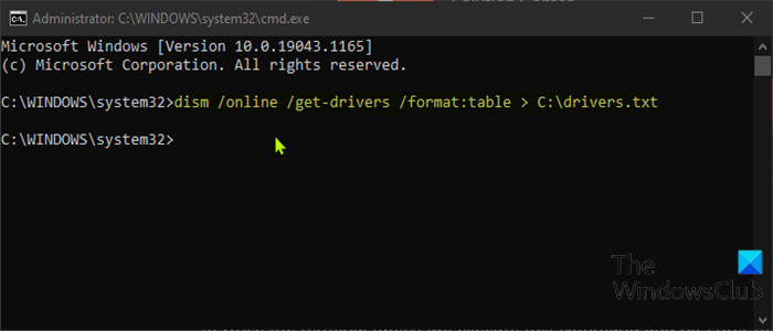 Clean DriverStore folder using Command Prompt