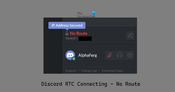 Discord RTC Connecting No Route