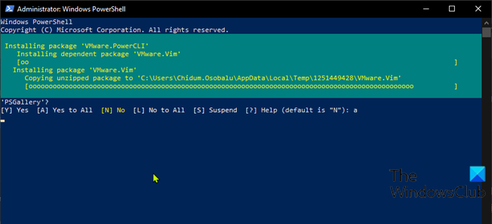 Download and install VMware PowerCLI