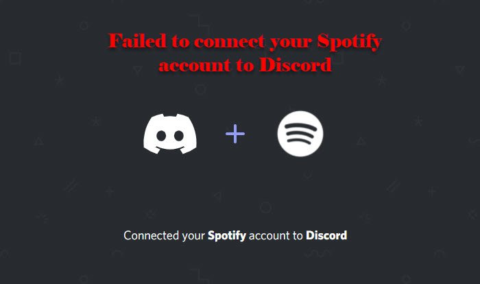 Failed to connect your Spotify account to Discord