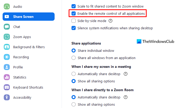 Fix Zoom Black Screen problem during Joining or Screen Sharing