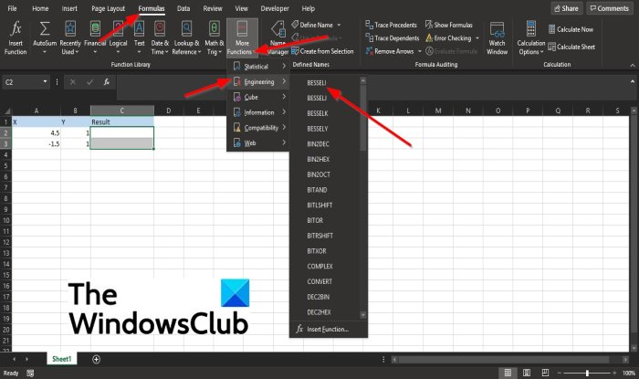 How to use the BESSELI function in Excel