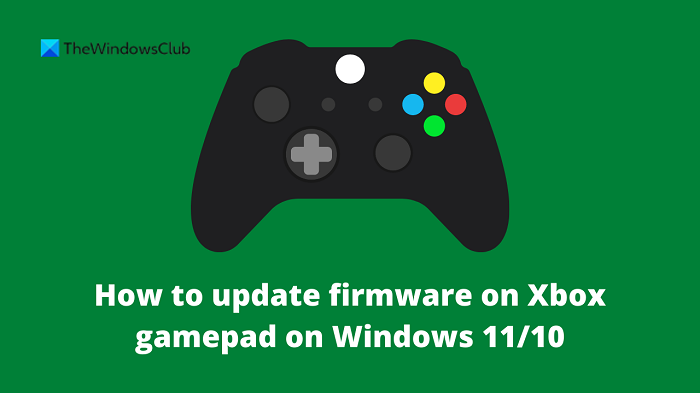 How to update firmware on Xbox gamepad
