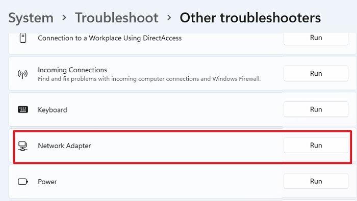 Network Troubleshooter Windows