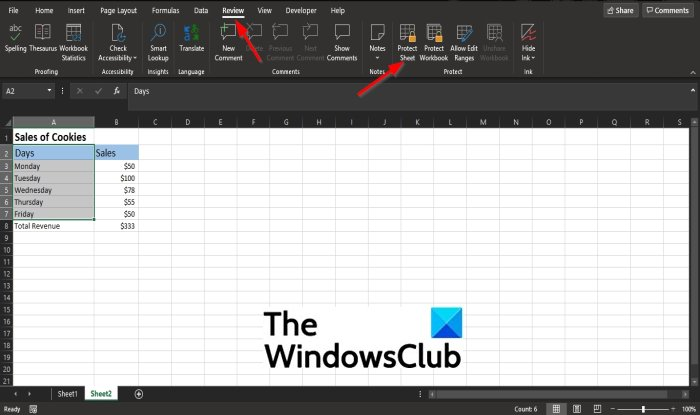 How to lock cells in Microsoft Excel formula to protect them
