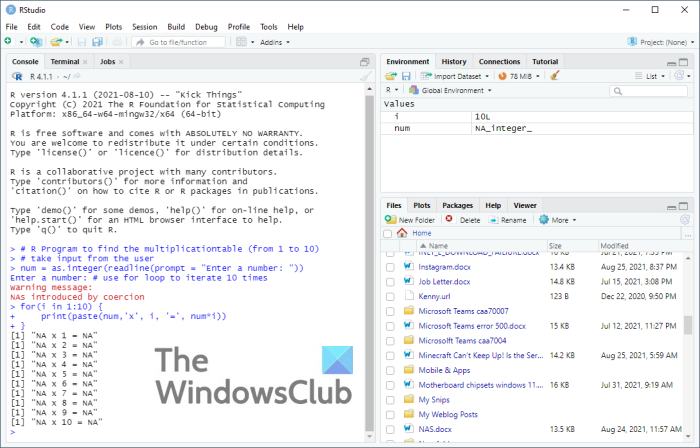 clear your console of code in R and RStudio for Windows