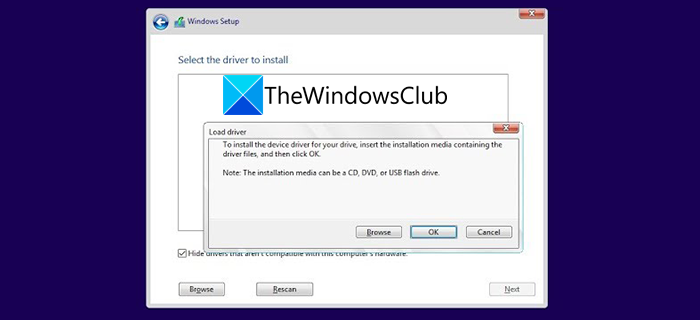 Select the driver to install