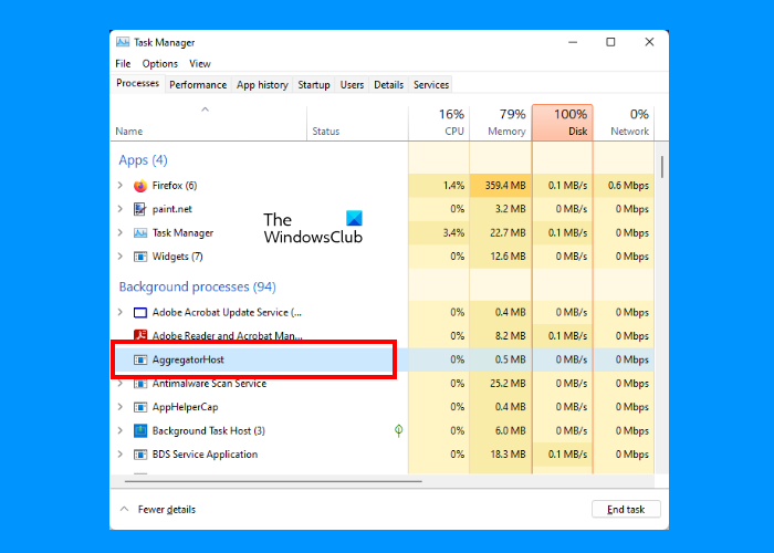 What is Aggregatorost.exe in WIndows