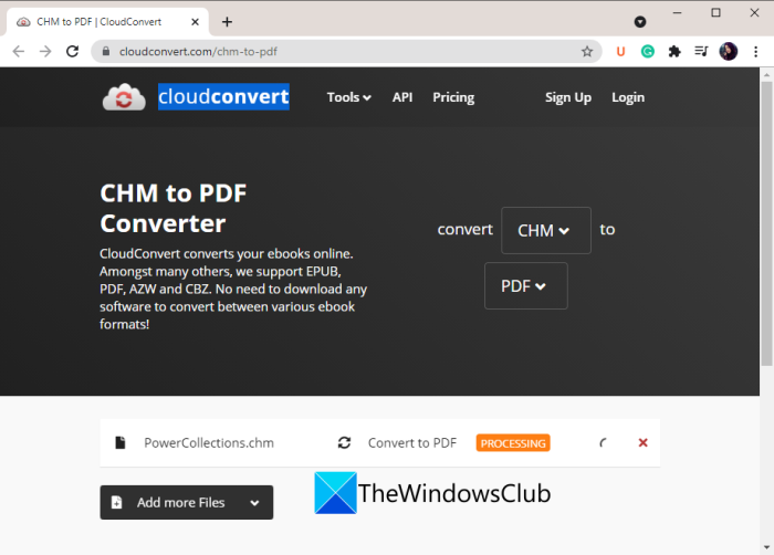 How to Convert CHM to PDF in Windows 11/10