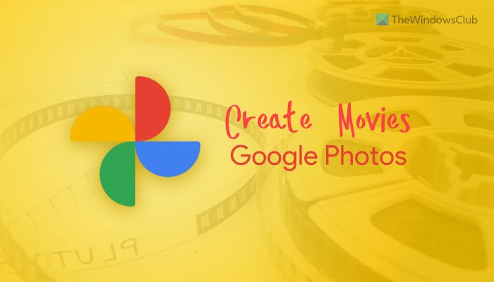 How to create movies in Google Photos for web