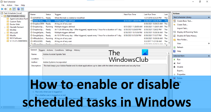 disable scheduled task in windows