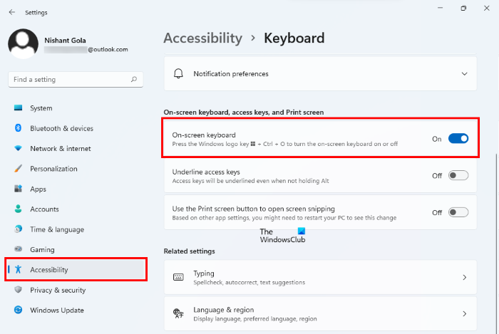 How to use Windows computer without keyboard or mouse