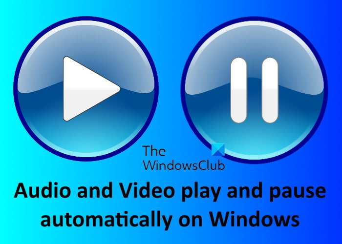 fix audio video play pause automatically