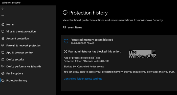 Fix DST Blocked by Windows Defender