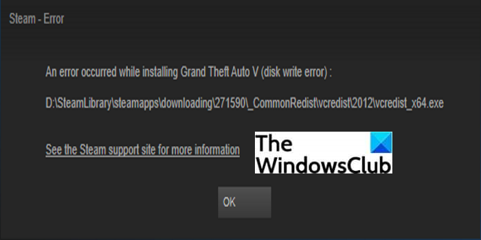 How to Fix the Disk Write Error on Steam