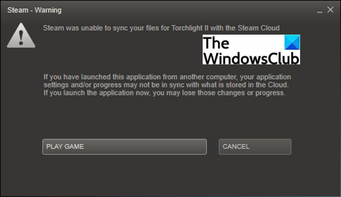 """How to Fix """"Steam was unable to sync your files"""""""