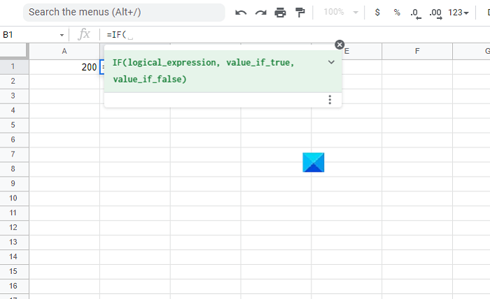 How to use IF and Nested IF functions in Google Sheets