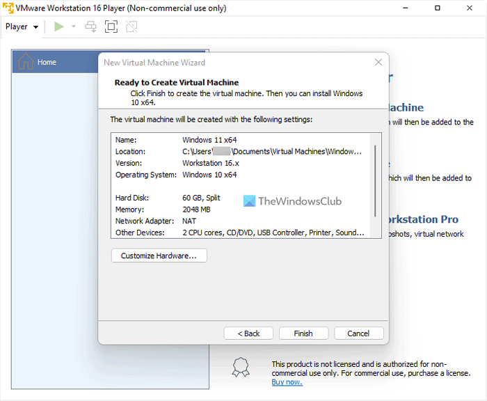 How to install Windows 11 on VMware Workstation Player