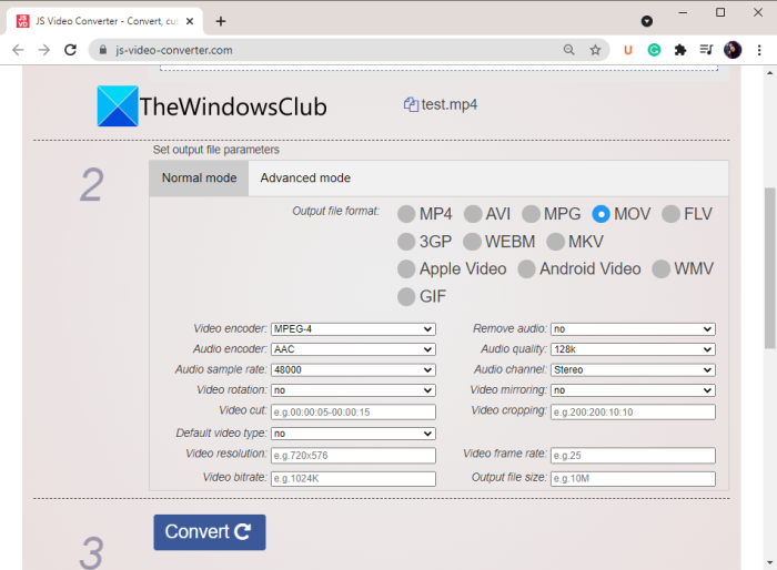 Transcode a Video using free Video Transcoder software