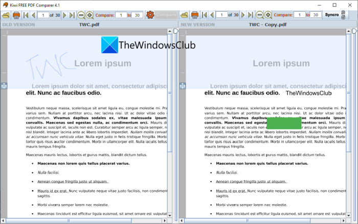 Visually compare two PDF files using these free software and online tools