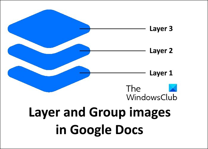 layer and group images Google Docs