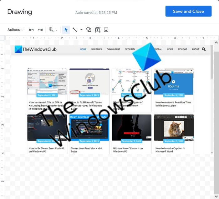 layer images in Google Docs