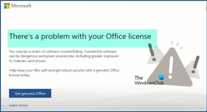 There's a Problem with Your Office License