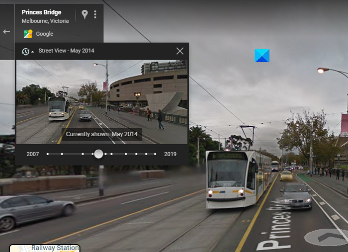 Travel back in time using Google Maps
