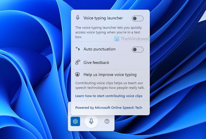 How to use the Voice Typing Tool in Windows 11