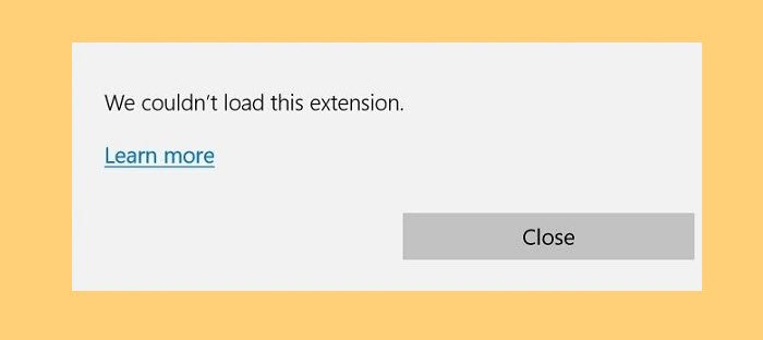 Fix We Couldn't Load This Extension in Edge