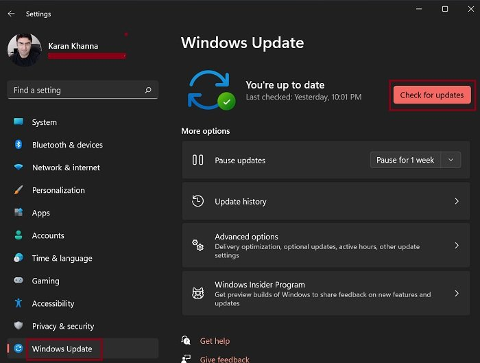Download Windows Updates manually in Windows 11