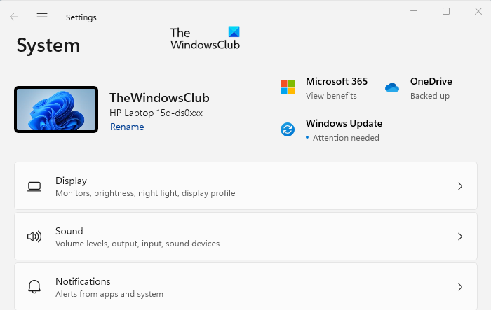 Find your Windows 11 computer name using Settings