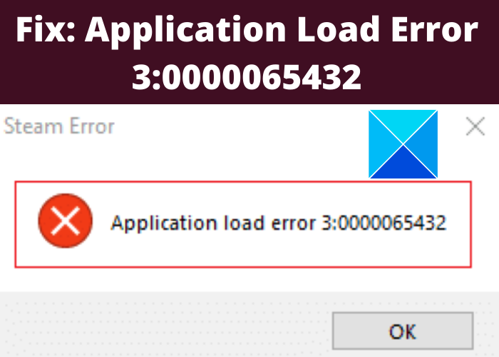 Fix: Application Load Error 3:0000065432 when opening game through Steam
