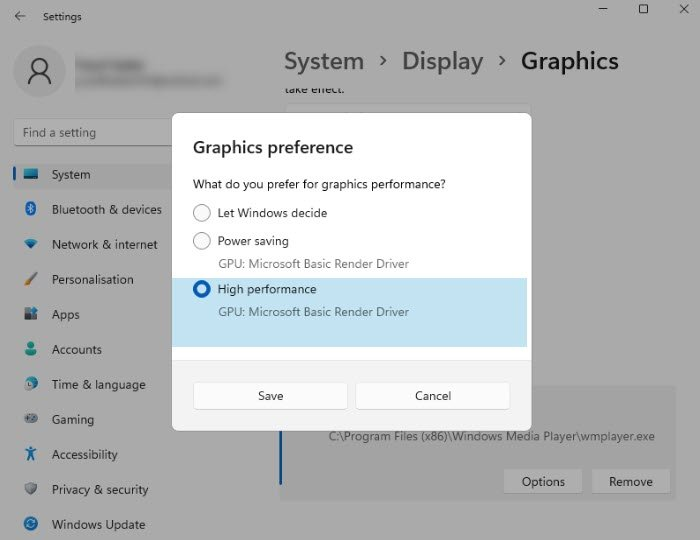 Force a Game to use a Graphics Card or GPU in Windows 11