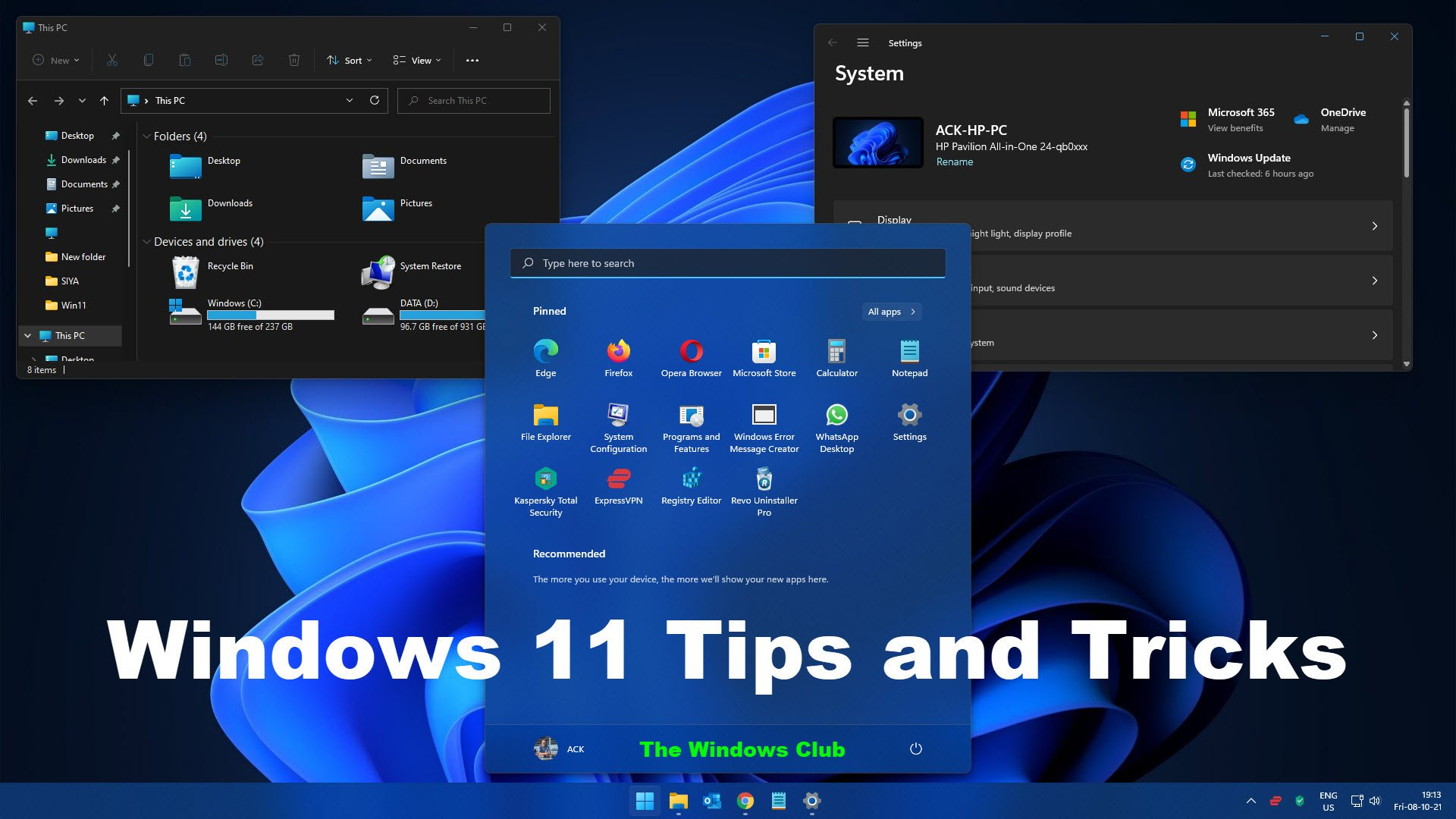 Windows 11 Tips and Tricks