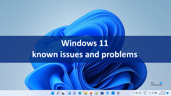 Windows 11 known issues and problems